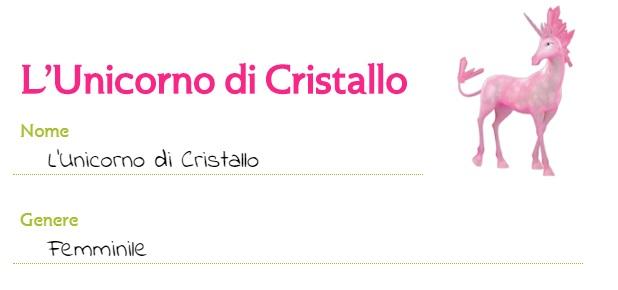 Mia and me unicorno di Cristallo creature Centiopia unicorni