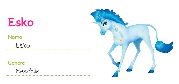Mia and me unicorni Esko unicorno animali creature Centiopia cartoni animati