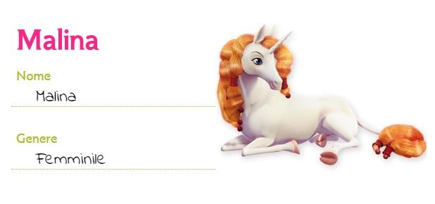 Mia and me unicorno Malina creature unicorni cartoni animati