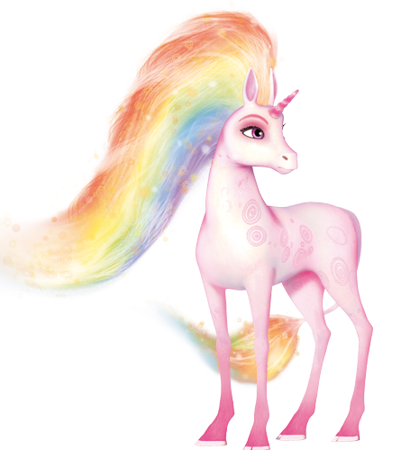 Unicorno flair di mia and me cartoni animati