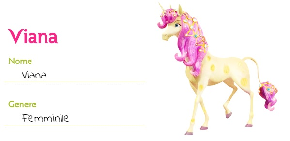 Mia and me unicorno Viana