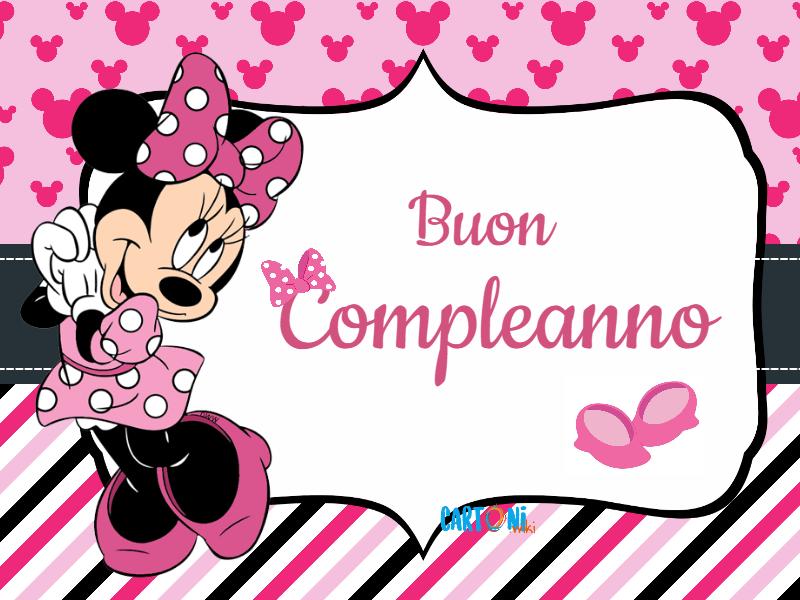 Minnie buon compleanno cartoni animati for Immagini da colorare di minnie