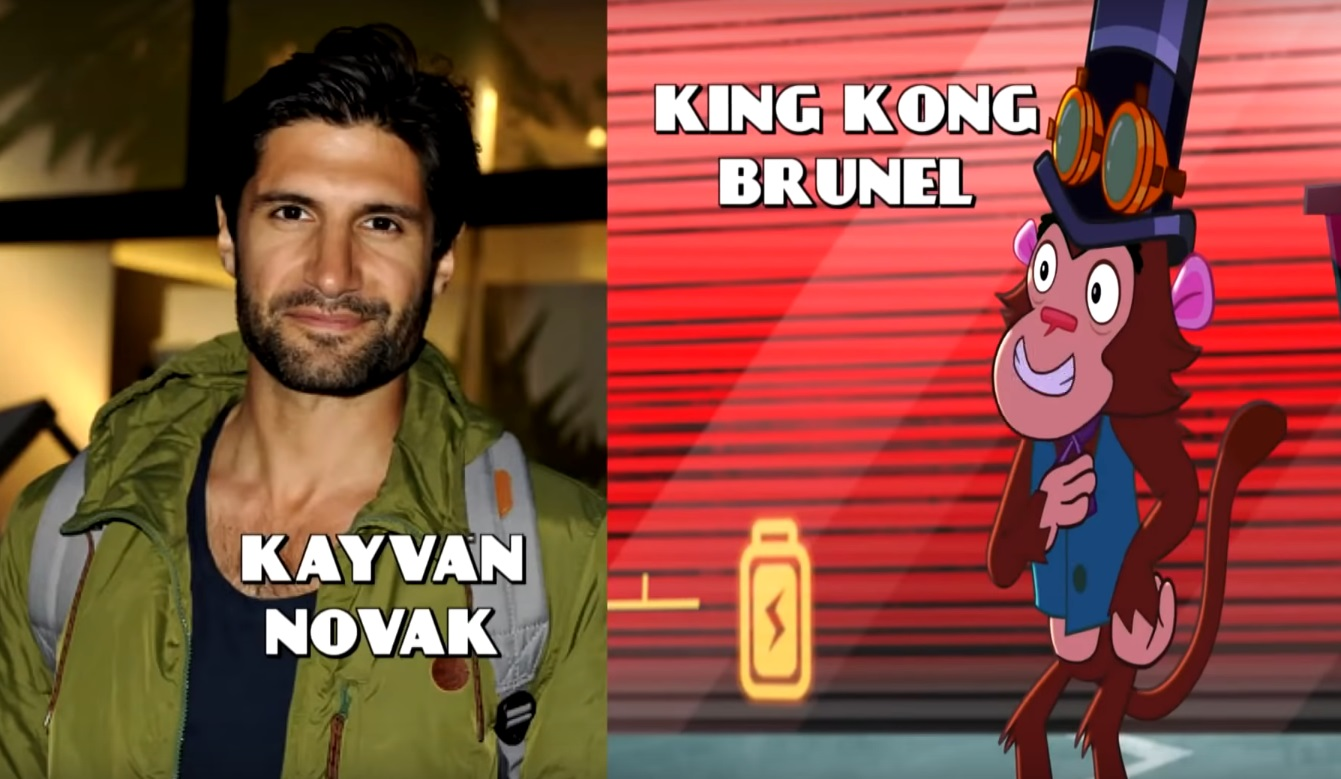 DAnger Mouse Cartoni animati personaggi Doppiatori originali K2 - King Kong Brunel - Kayvan Novak