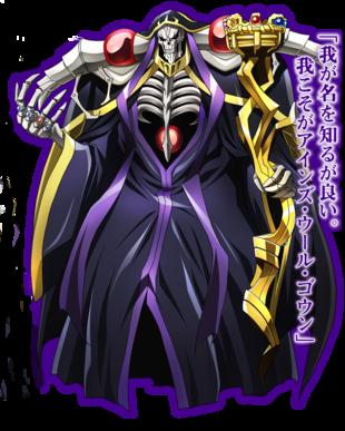 Overlord - Character Ainz Ooal Gown - sovrano della Grande Catacomba di Nazarick - personaggi - anime yamato video animation
