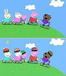 Peppa Pig critiche e polemiche per caschi e sicurezza cartoni animati