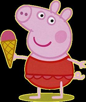 Peppa Pig con gelato e costume - Cartoni animati