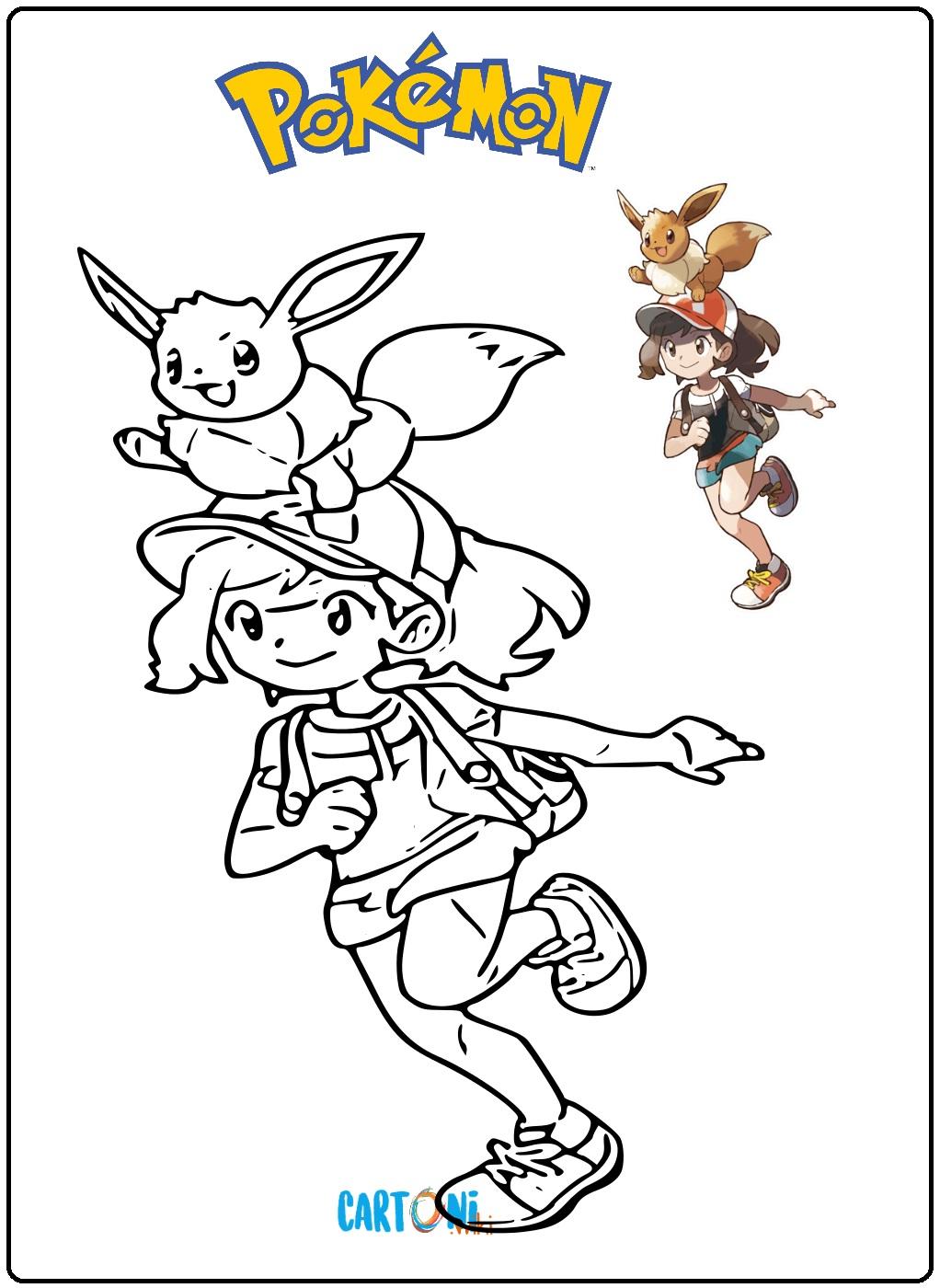 Pokémon Let's Go, Eevee da colorare - Disegni da colorare
