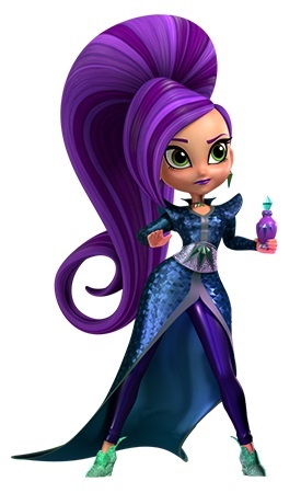 Shimmer and Shine personaggi Zeta antagonista cartoni animati Cartoonito Nick Jr