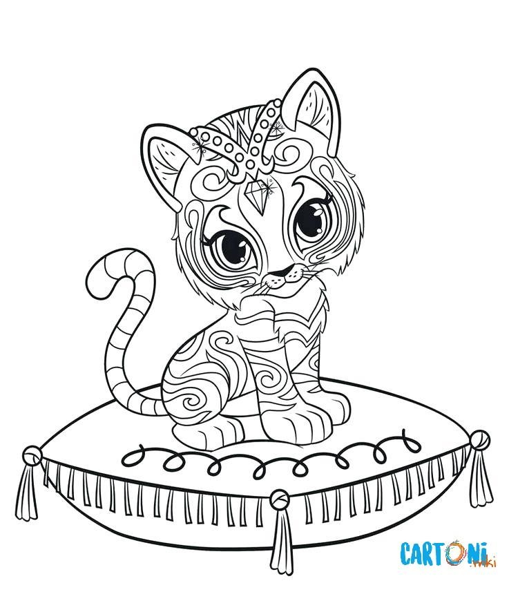 Colora nahal la tigre del bengala cartoni animati