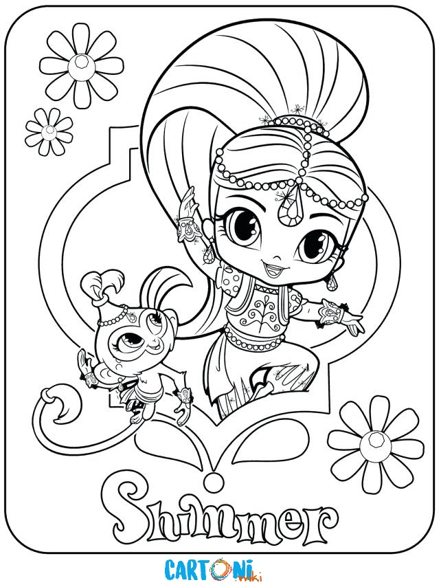 Shimmer e tala da colorare cartoni animati for Shimmer and shine da colorare