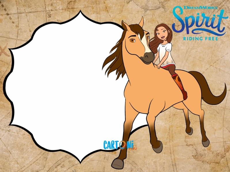 Spirit Riding Free Invito Whatsapp - inviti compleanno online