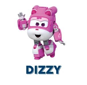 Super Wings Dizzy personaggi cartone animato aereo rosa