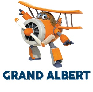 Super Wings Grand Albert aereo saggio vecchio cartone animato