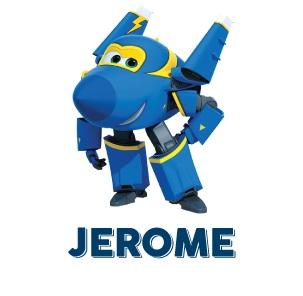 Super Wings Jerome aereo blu cartone animato