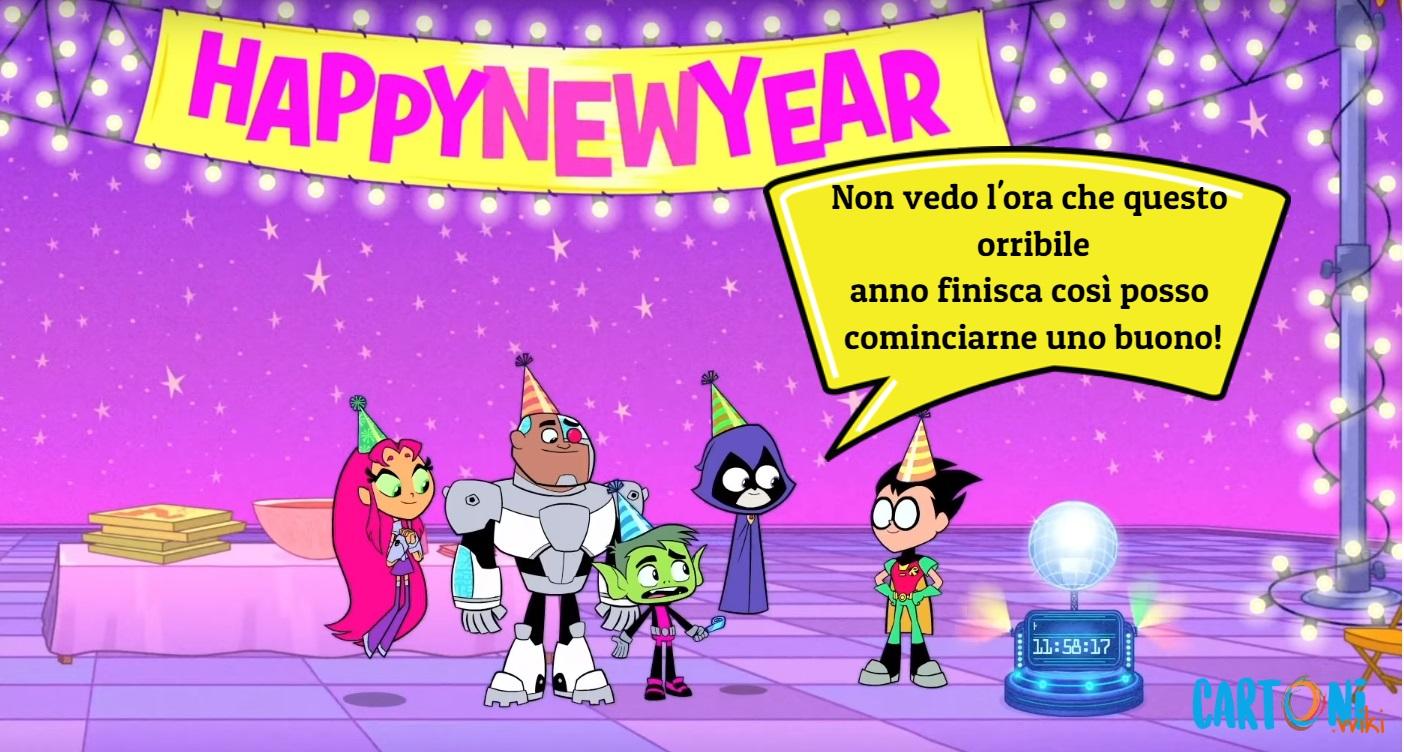 Teen Titans Go Non vedo l'ora che questo orribile anno  - Cartoni animati