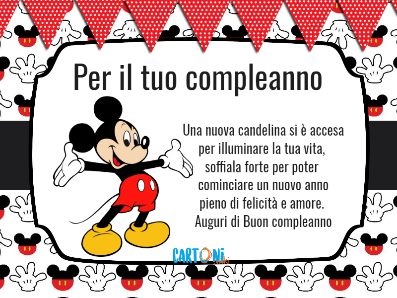 Auguri Di Buon Compleanno Per 9 Anni.Topolino Per Il Tuo Compleanno Cartoni Animati