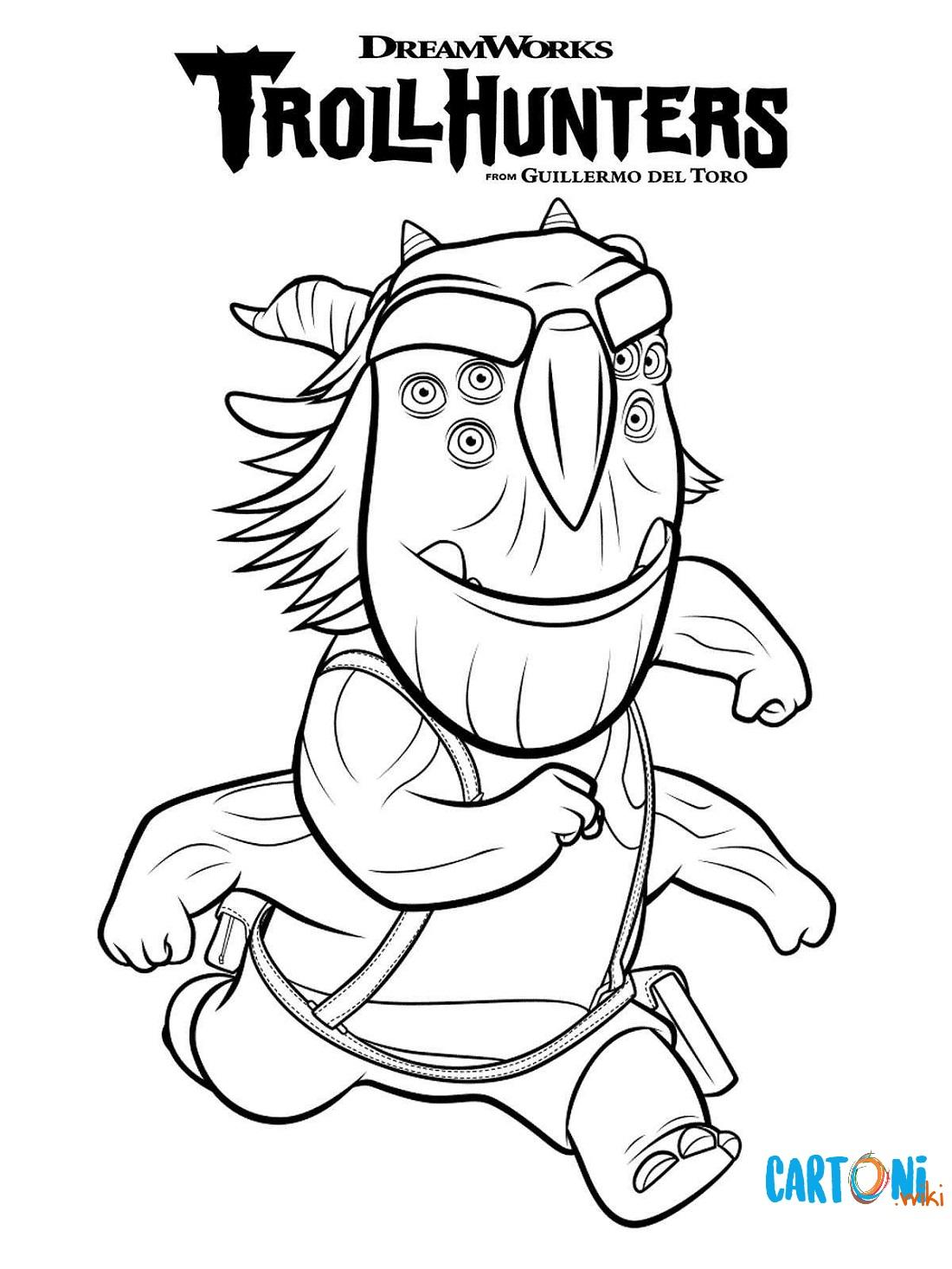 Stampa e colora Blinky di Trollhunters - Disegni da colorare