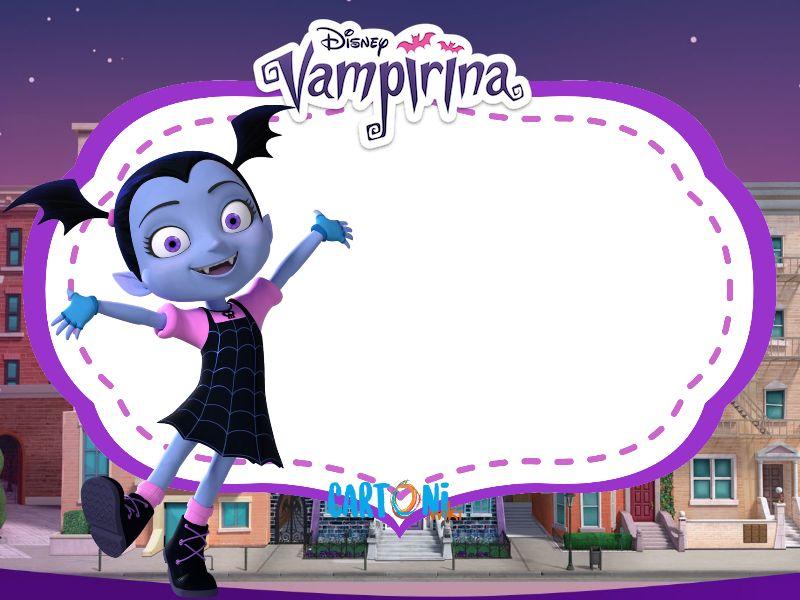 Vampirina invito festa compleanno cartoni animati