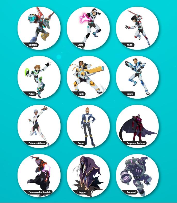 Voltron: Legendary Defender cartone animato personaggi