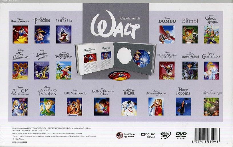 I capolavori di walt collezione dvd disney classic