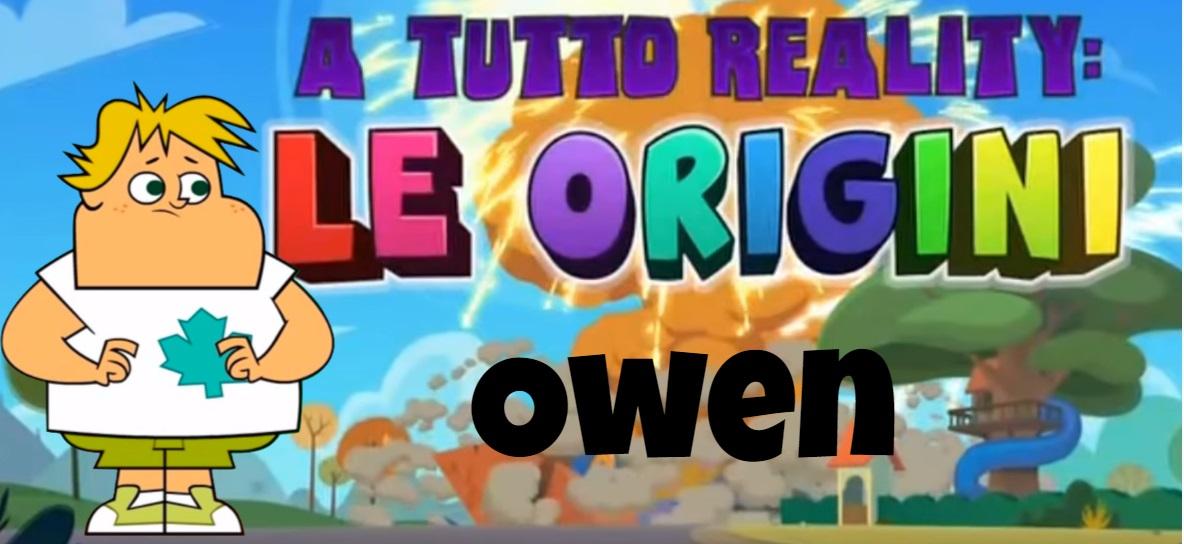Owen A tutto reality le origini personaggi - Total dramarama characters