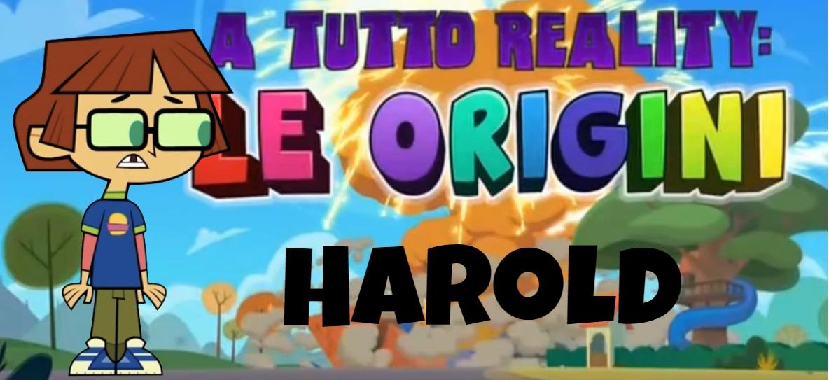 Harold A tutto reality le origini personaggi - Total dramarama characters