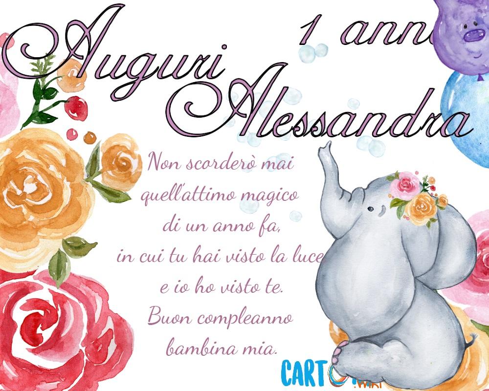 Alessandra auguri per il tuo primo compleanno  - Cartoni animati