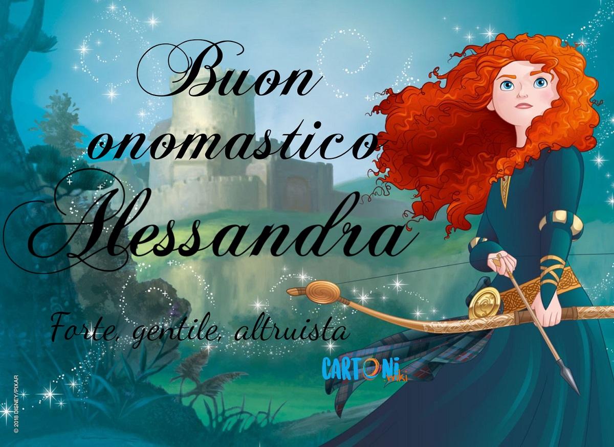 Alessandra buon onomastico - Cartoni animati