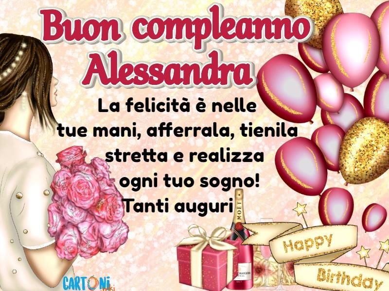 Auguri di buon compleanno Alessandra - Cartoni animati