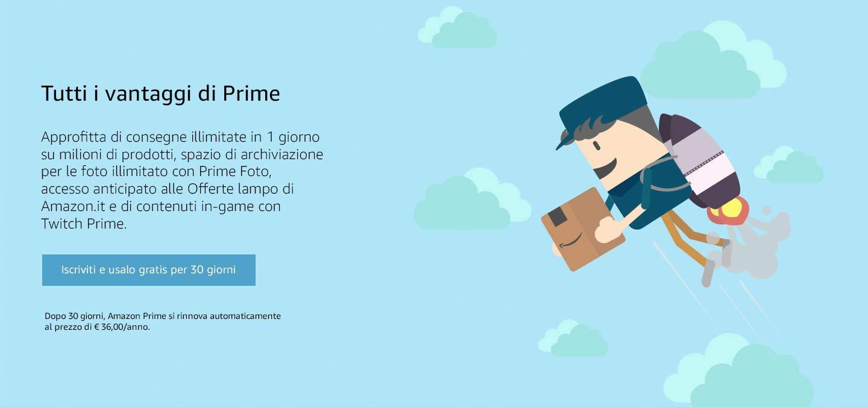 Amazon Prime giochi offerte giocattoli film tv Amazon Prime vantaggi acquista online