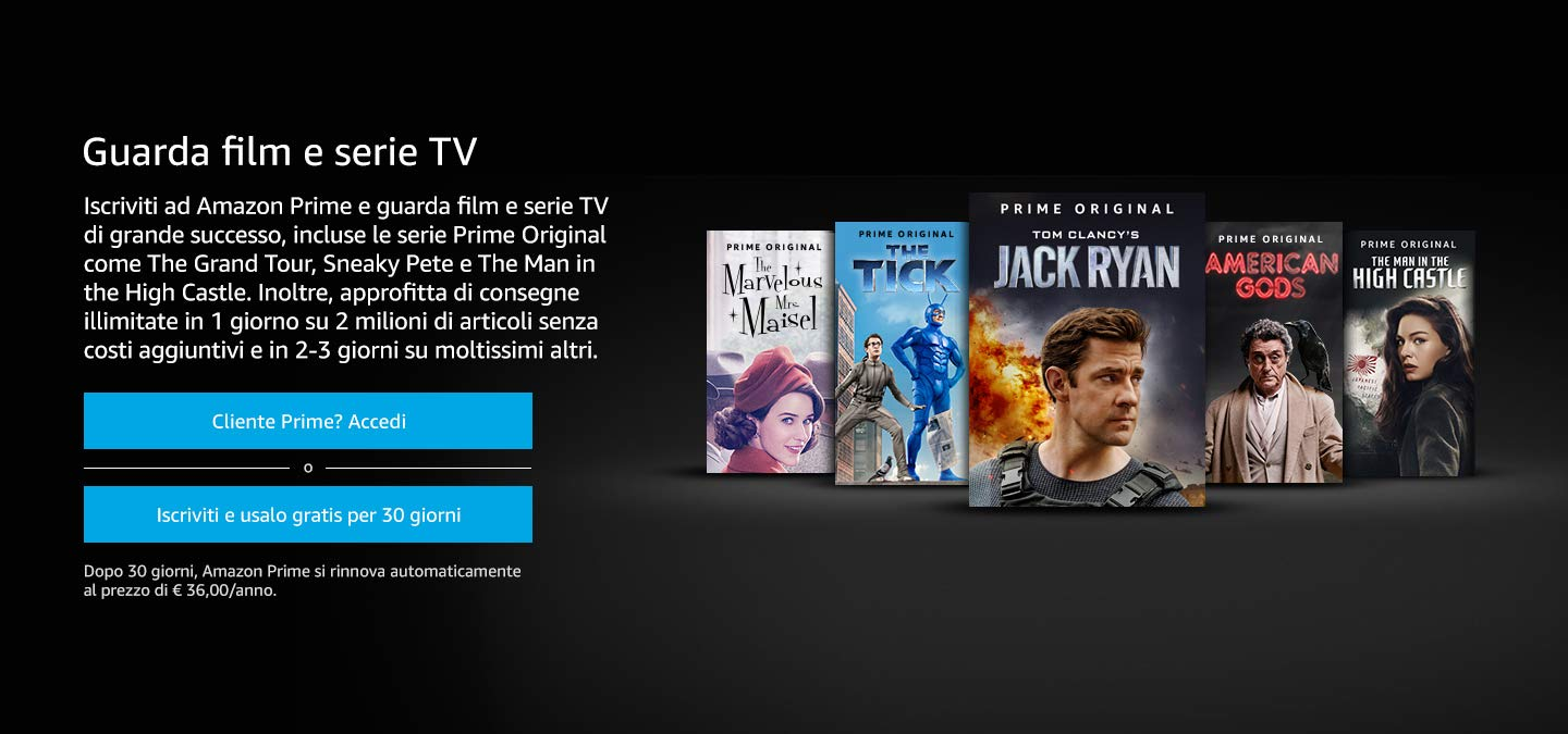 Amazon Video amazonvideo.com film streaming  Amazon Prime vantaggi acquista online 30 giorni gratis