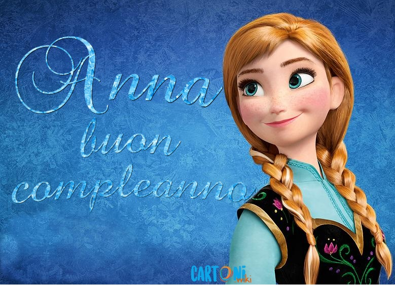Anna buon compleanno - Cartoni animati