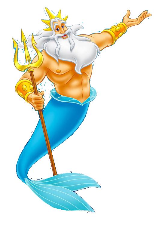Tritone padre di Ariel la sirenetta - Cartoni animati