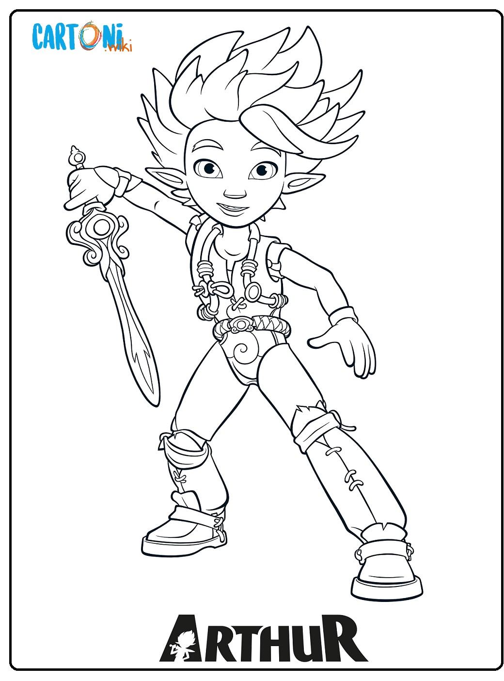 Arthur e il popolo dei Minimei da colorare - Disegni da colorare