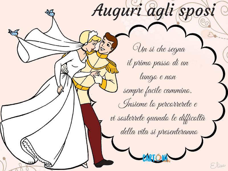 Messaggi Auguri Matrimonio : Auguri agli sposi un si che segna cartoni animati