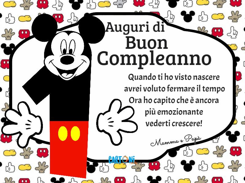 Auguri Di Buon Compleanno 1 Anno Cartoni Animati