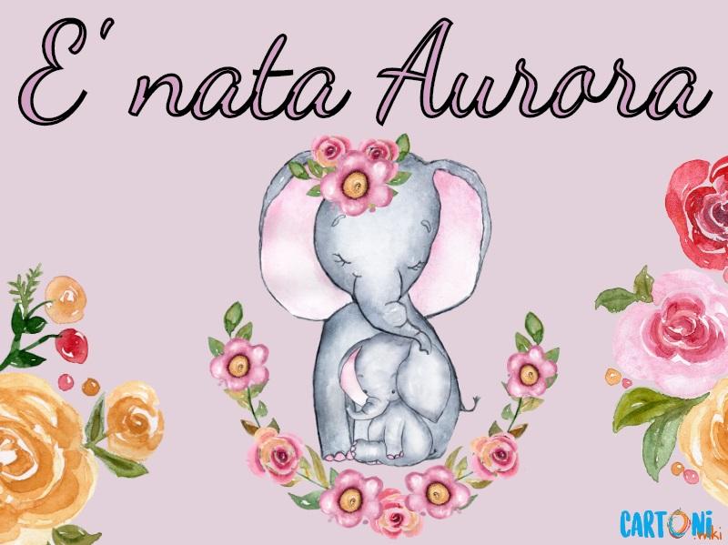 Aurora è nata! Annuncio nascita bambina - Cartoni animati