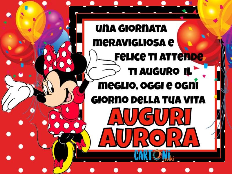 Auguri Aurora ti auguro il meglio - Cartoni animati