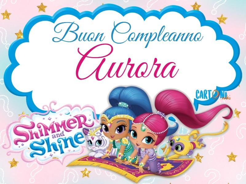 Aurora Buon compleanno - Cartoni animati