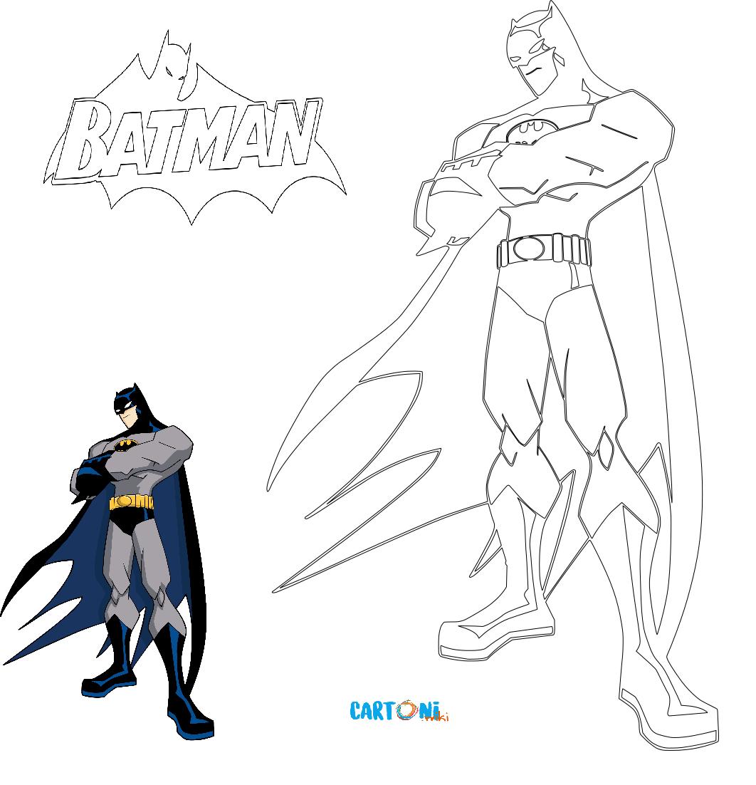 Disegno batman da colorare cartoni animati for Angeli da stampare e colorare
