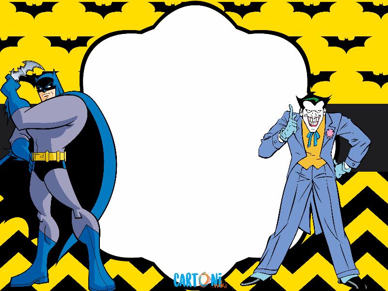 Batman biglietto auguri compleanno cartoni animati