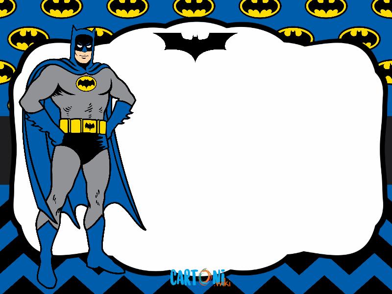 Batman invito compleanno cartoni animati