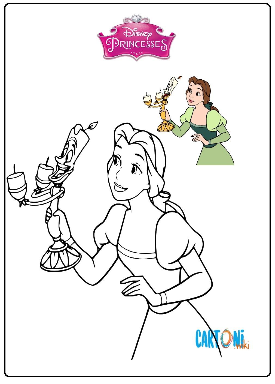 Principessa Belle da colorare - Disegni da colorare