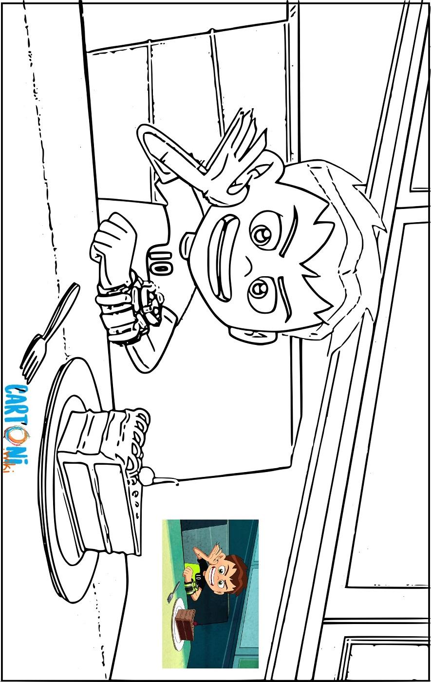 Disegno di ben 10 da stampare cartoni animati - Disegno finestra da colorare ...