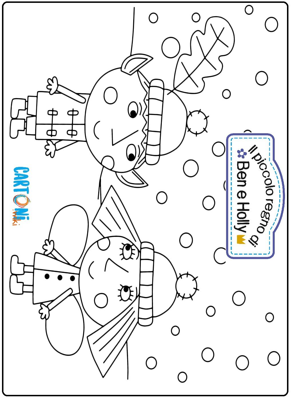 Disegni Ben e Holly da colorare - Stampa e colora