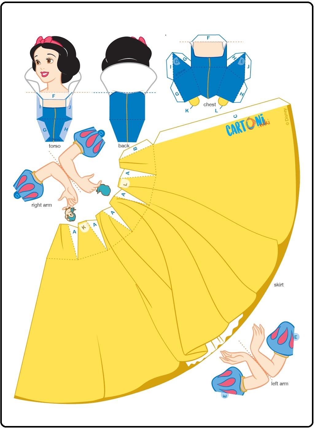 Biancaneve crea bambola 3d - Cartoni animati