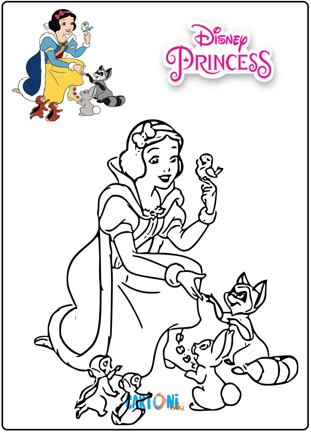 Biancaneve Disegni Da Colorare Cartoni Animati