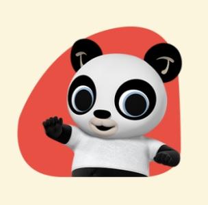 Bing - personaggio Pando -cartone animato bambini età prescolare rai yoyo - cartoni - coniglio