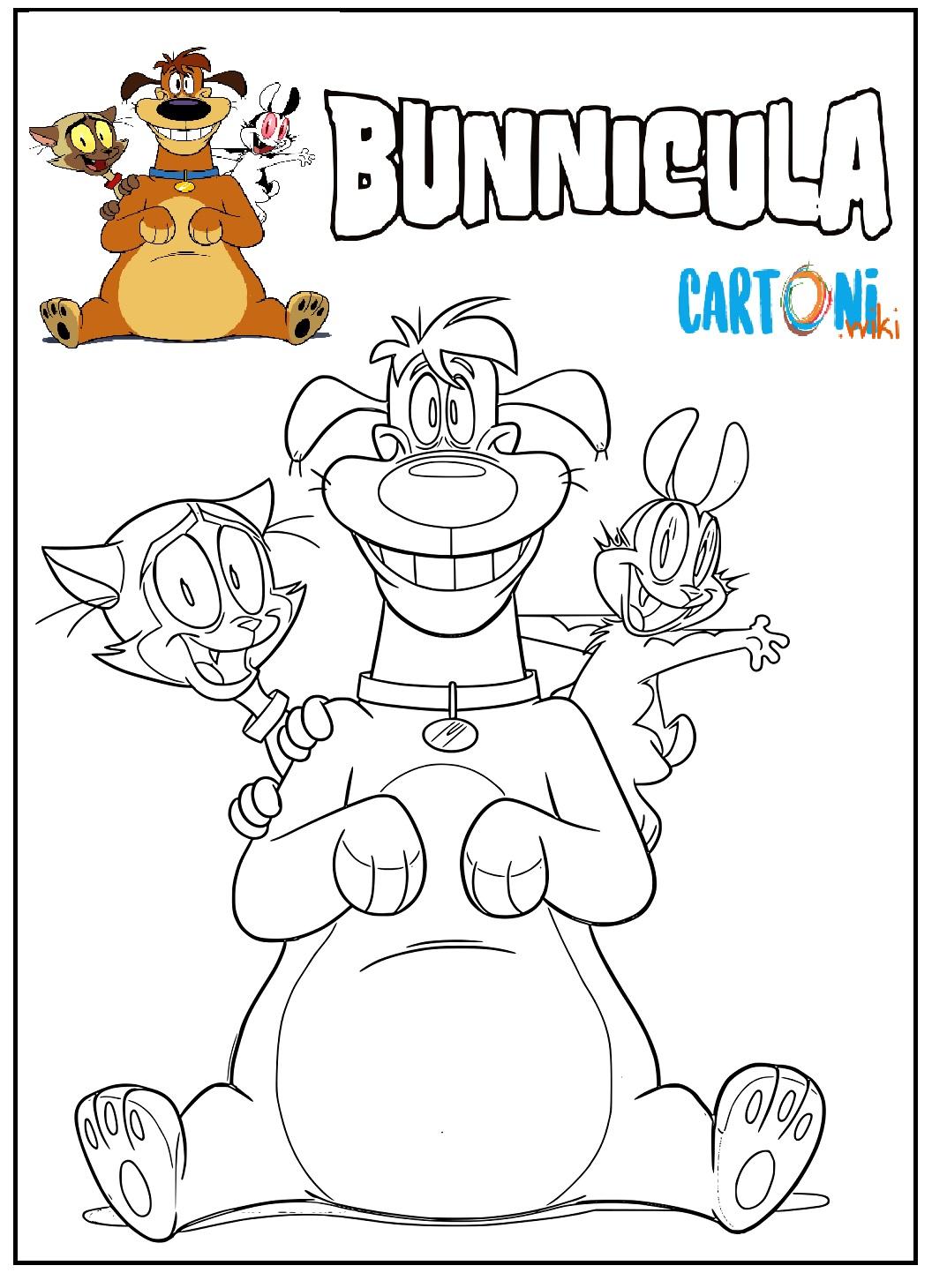 Bunnicula disegno da colorare con i personaggi - Disegni da colorare