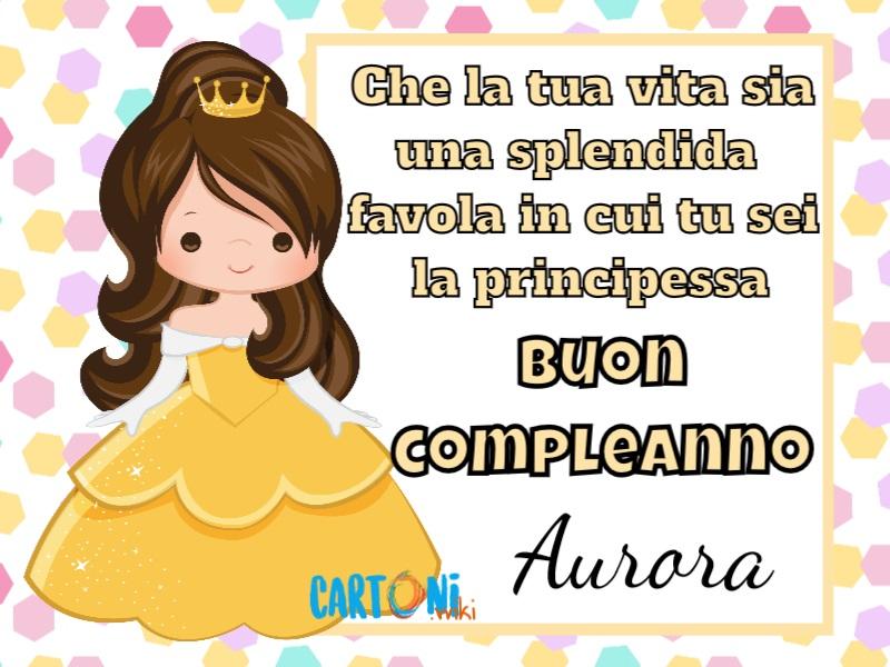 Buon compleanno Aurora con Belle - Biglietti di auguri